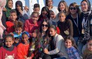 النجمة كندة علوش تغني وتحتفل مع أكثر من 600 طفل يتيم