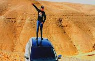 إختبار نيسان قاشقاي فى الصحراء الشرقيه وهى بتتسلق جبل ارتفاعه 120 متر فى منطقة كهف سنور
