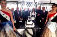 كلمة السيد بسام درويش - السفير السوري في مصر يبارك فيها السيد محمود عنتر أثناء افتتاح بيت الموضه للأزياء