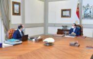 السيسى يستعرض مع رئيس المخابرات العامة التطورات الخاصة بملفات الأمن القومى