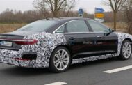 شركة اودي للسيارات تختبر audi a8 2022 facelift هايبرد الجديدة