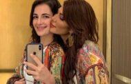 النجمة أصالة : فى صورة نادرة مع طفلتها شام الذهبى