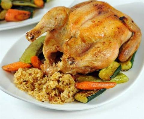 طريقة تحضير دجاج محشي بأرز أوزي ...وصفة شهية وسهلة