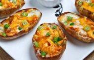طريقة عمل بطاطس محشية بالكريمة والبصل الأخضر بمكونات بسيطة ولذيذة