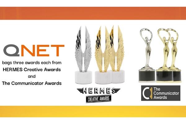 كيونت تحصد العديد من الجوائز الإبداعية من عدة هيئات ومؤسسات دولية مثل Communicator و HERMES