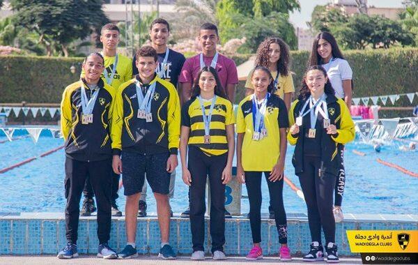 أبطال وادى دجلة يحصدون الكؤوس والميداليات في السباحة والتنس