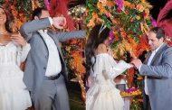 ريم سامي تحتفل بخطوبتها من رجل الأعمال طارق هيمن ..ومي عمر تغني لها بمشاركة أكرم حسني