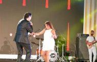 شاهد بالفيديو راغب علامة يرقص مع روچينا في حفل النخيل للتطوير العقاري بفندق ال چي دبليو ماريوت.