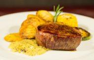 ستيك اللحم بصلصة الماسترد دايت