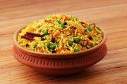 أرز بسمتي بالخضار والكاري بطريقة سهلة