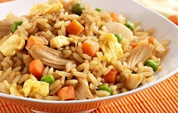 دجاج مقلي مع الأرز بطريقة بسيطة وبطعم رائع ....خطوة بخطوة